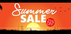 Summer Sale - 25% OFF